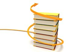 Free Three Dimensional Books Wrapped With Arrow Royalty Free Stock Photos - 7053428