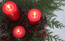 Free Christmas Candles Stock Photography - 7053852