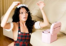 Free Surprised Maid With The Jewelry Royalty Free Stock Photos - 7054008