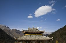 Free Temple On Sky Stock Image - 7054021