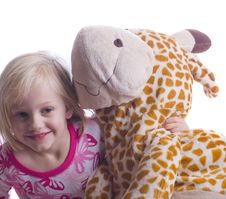 Free Child With Giraffe Royalty Free Stock Photo - 7054035