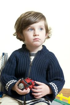 Free Portrait Of Little Boy Dreaming Royalty Free Stock Photo - 7054565