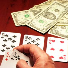 Free Player In Poker Royalty Free Stock Image - 7054746