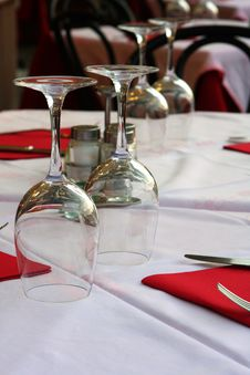 Free Wineglasses On The Table Royalty Free Stock Photography - 7054747