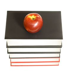Apple And Books Royalty Free Stock Photography