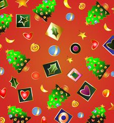 Free Christmas Abstraction. Royalty Free Stock Images - 7055279