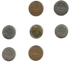Free French Coins Royalty Free Stock Photos - 7056138