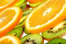 Free Orange And Kiwi Slices Background Stock Photos - 7056943