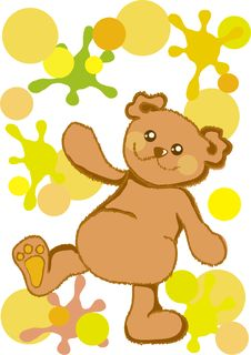 Free Happy Teddy Bear Stock Photo - 7057170