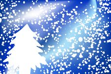 Free Christmas Background With Snowflakes And Tree Royalty Free Stock Photo - 7057205