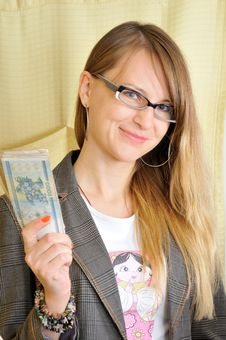 Free Pretty Successful Woman With Money In Hand Stock Photo - 7057350