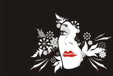 Free Face From Flowers Royalty Free Stock Photography - 7057557
