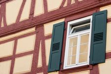 Free Old German House Wall With Window Stock Photos - 7057563