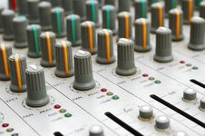 Audio Mixing Board Stock Image