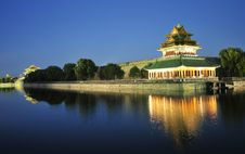 Night Scene Of Corner Building Of Forbidden City Royalty Free Stock Images