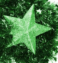 Green Flickering Star Stock Photos