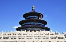 Chinese Ancient Building In Heaven Temple Royalty Free Stock Images