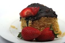 Free Strawberries And Cake Royalty Free Stock Photos - 7058018