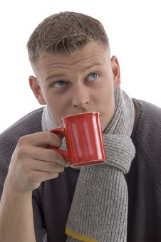 Free Handsome Man Drinking Coffee Royalty Free Stock Photo - 7058125