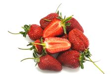 Few Appetizing Strawberry Royalty Free Stock Images