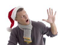 Free Smiling Young Man With Christmas Hat Royalty Free Stock Photos - 7058478