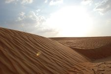 Free Desert And Sky Royalty Free Stock Photography - 7058787