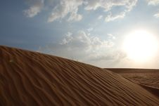 Free Desert And Sky Royalty Free Stock Image - 7058816