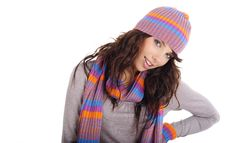 Free Portrait Of Winter Girl Stock Photography - 7058902