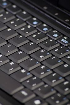 Free Black Computer Keyboard Stock Photo - 7058930
