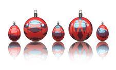 Free Christmas Balls Royalty Free Stock Photo - 7058955
