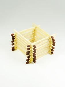 House Of Matches Royalty Free Stock Image