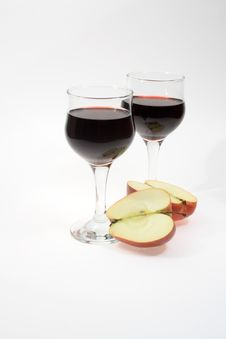 Free Wine And Apple Stock Photos - 7059573