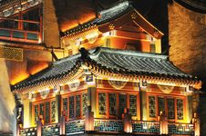 Night Scene Of Chinese Ancient Building Stock Images