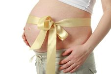 Free Big Belly Pregnant Woman Royalty Free Stock Images - 7059879