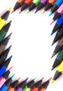 Free Frame Of Multicolores Crayons Stock Image - 7062501