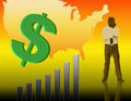 Free Illustration On The Rise In The Dollar Chart Stock Photos - 7067973