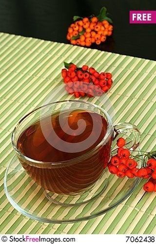 Tea and berries Stock Photo