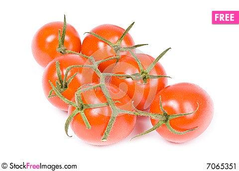 Baby Roma Tomatoes Stock Photo