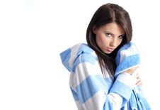 Free Young Beautiful Girl With Bath Towel Stock Photography - 7060092