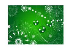 Christmas Green Abstraction. Vector Stock Photo