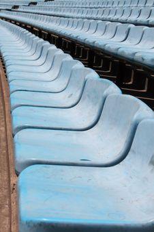 Free Blue Stadium Seats Stock Photography - 7060892