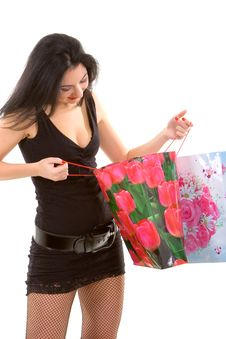 Free Pretty Woman With Shopping Bags Royalty Free Stock Image - 7062056