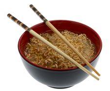 Noodle Soup Asian With Chopsticks