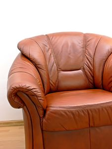 Free Fragment Of Brown Armchair Stock Image - 7062181