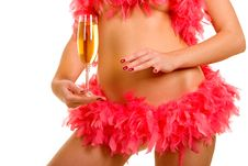 Free Woman And Goblet With Champaign Royalty Free Stock Images - 7062929