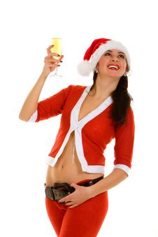 Free Santa Woman Royalty Free Stock Image - 7063006