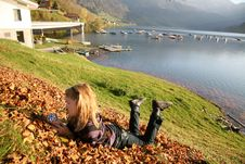 Free Relax At The Autumn Lake Stock Photo - 7063250