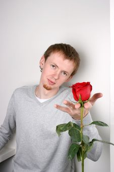 Free Boy With Rose Royalty Free Stock Image - 7063506