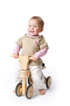 Free Baby On Bicycle Stock Images - 7063744