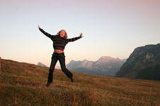 Free Jumping Girl Stock Image - 7064261